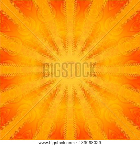 Abstract sunflower background. Mandala stylistics. Abstract  background.