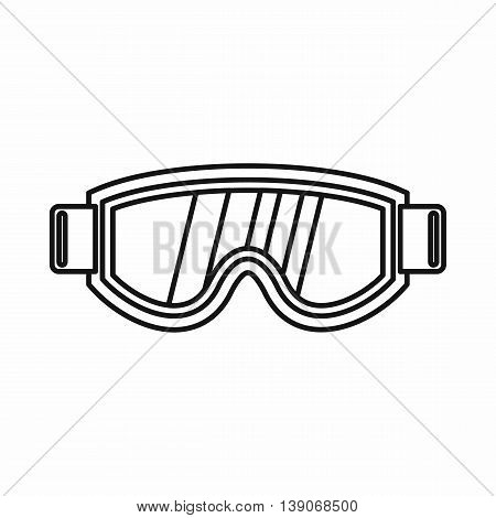 Skiing mask icon in outline style isolated vector illustration