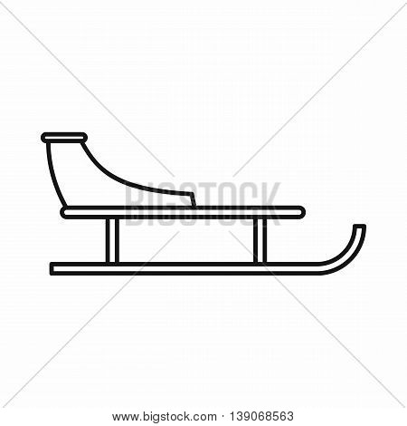 Sled icon in outline style isolated vector illustration
