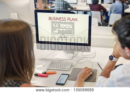 Business Plan Strategy Progress Solution Concept
