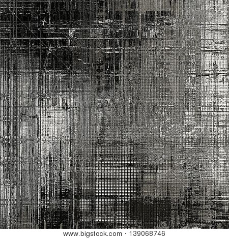 Old school frame or background with grungy textured elements and different color patterns: brown; gray; black; white