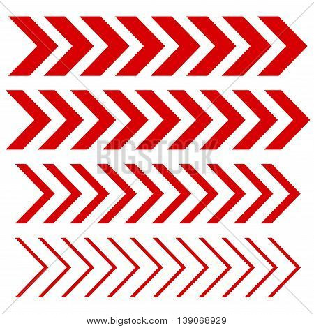 Arrow linear fast moving signs sideways set . Vector EPS8 collection