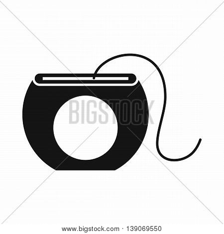 Dental floss icon in simple style isolated vector illustration