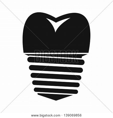 Tooth implant icon in simple style isolated vector illustration