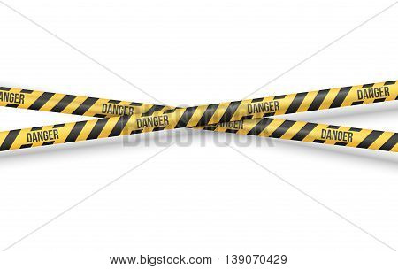 Police Line or other Danger restriction Tape Vector Background