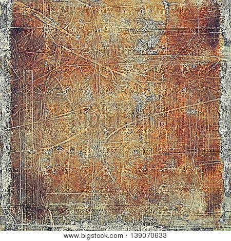Creative vintage grunge texture or ragged old background for art projects. With different color patterns: yellow (beige); brown; gray; red (orange); purple (violet)