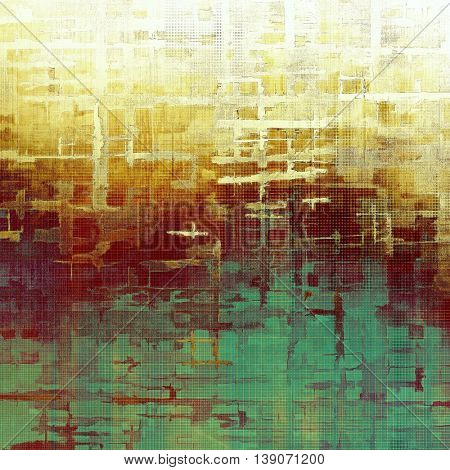 Vintage background in scrap-booking style, faded grunge texture with different color patterns: yellow (beige); brown; green; red (orange); purple (violet); white