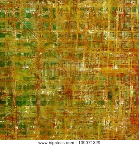 Grunge texture, decorative vintage background. With different color patterns: yellow (beige); brown; gray; green; red (orange)
