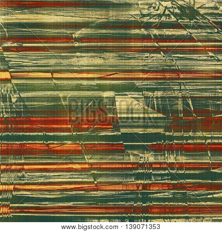 Stylish grunge texture, old damaged background. With different color patterns: yellow (beige); brown; gray; green; red (orange)