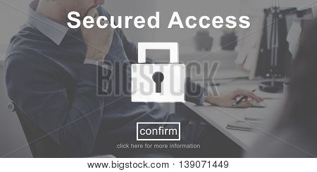 Secured Access Protection Security Safe Concept