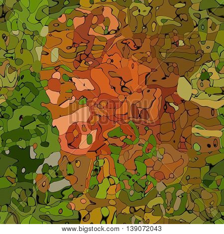 abstract modern natural green and brown spotted seamless pattern texture background - camouflage