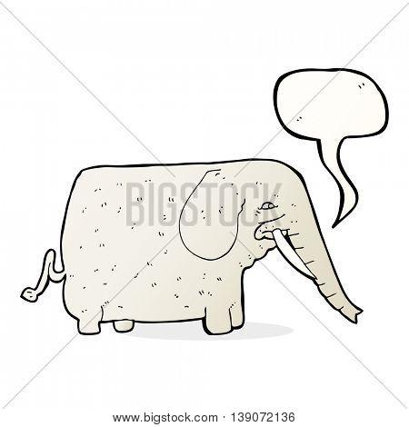 cartoon big elephant with speech bubble