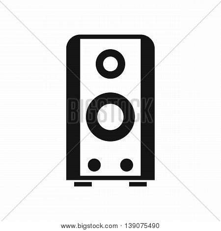 Black sound speaker icon in simple style isolated vector illustration