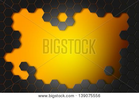 Abstract background with hexagons. Hi-tech digital technology concept abstract background.