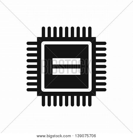 Electronic circuit board icon in simple style isolated vector illustration