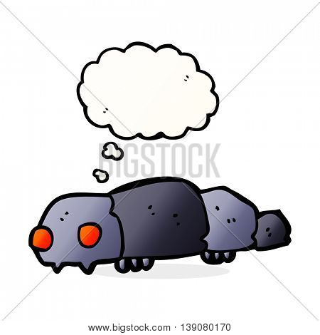 cartoon insect with thought bubble