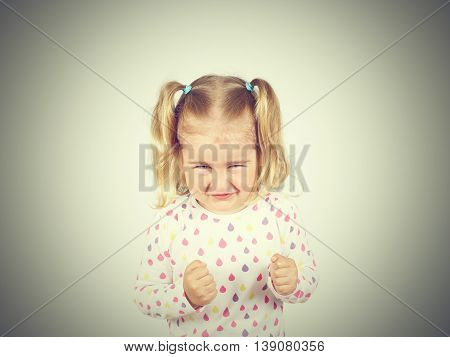 Little Girl Is Angry