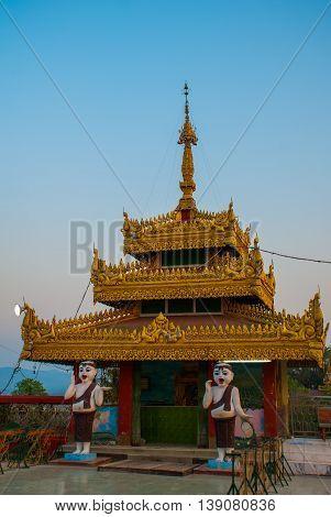 Kyaik Tan Lan .the Old Moulmein Pagoda. Mawlamyine, Myanmar. Burma.