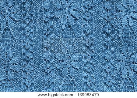 Vintage blue lace closeup as a background
