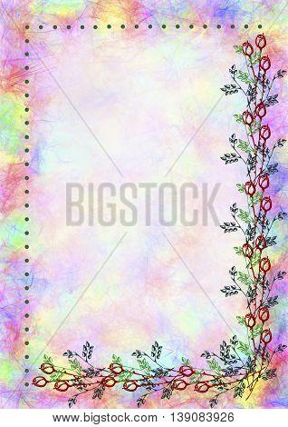 Raster Drawn Floral Card