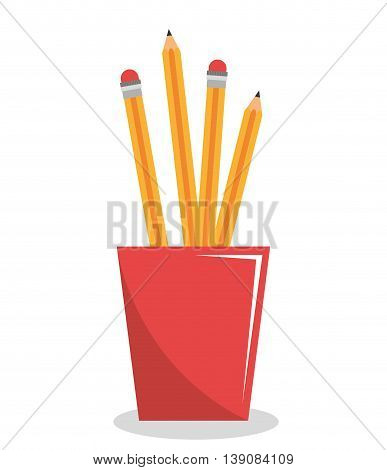 pencil holders isolated icon design, vector illustration  graphic