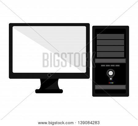 computer desktop isolated icon design, vector illustration  graphic
