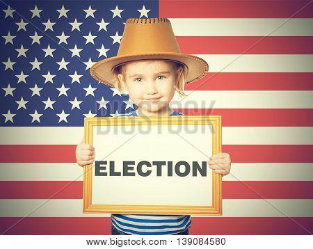 Blackboard. Text Election.