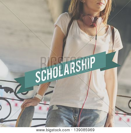 Scholarship Education Students Study College Concept
