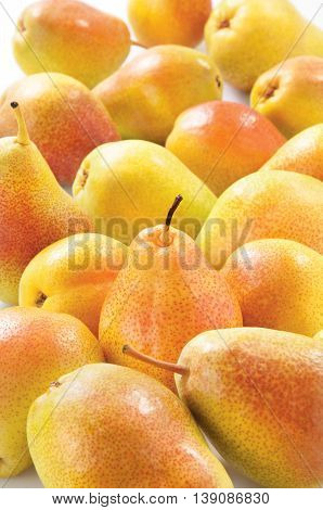 Pears isolated on white background sweet raw healthy food fruit