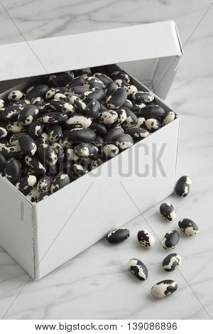 Box filled with vaguero beans