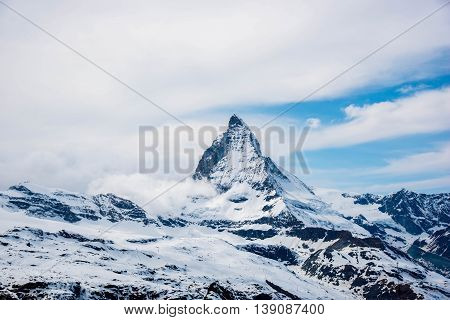 View of Matterhorn From Gornergrat - Zermatt Switzerland