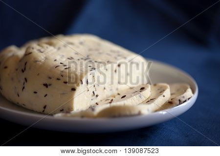 White Curd Cheese With Caraway Seeds