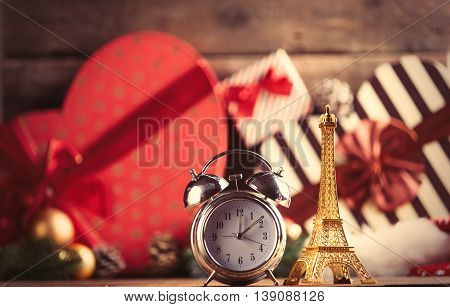 Eiffel Tower Shaped Toy And Alarm Clock