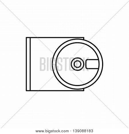 DVD drive open icon in outline style isolated vector illustration