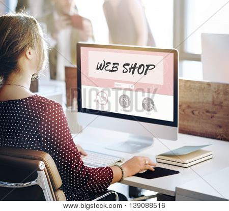 Web Shop Buy Online Internet Shopping Store Concept