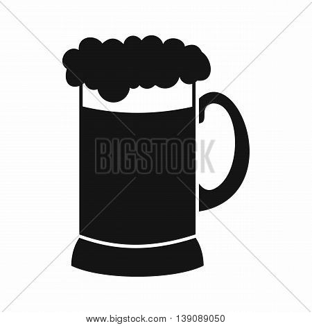 Mug of dark beer icon in simple style isolated vector illustration