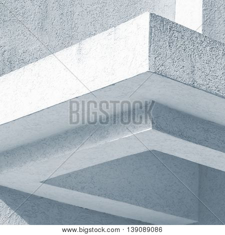 Abstract White Architecture Fragment, Blue Toned