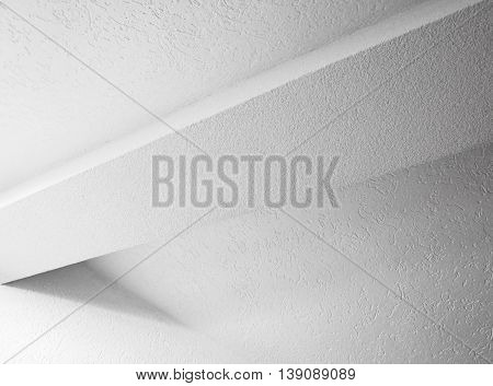 Abstract White Interior Design With Beam