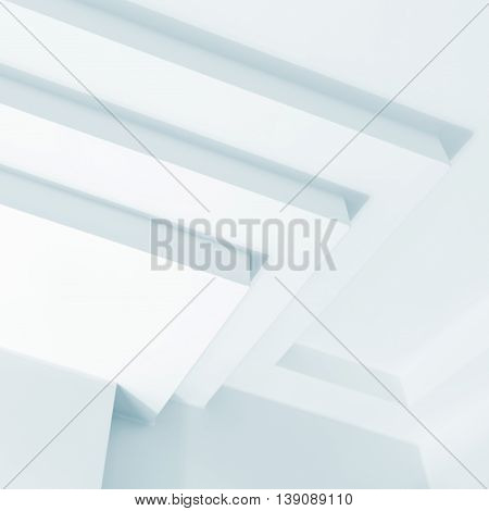 Abstract White Architecture Fragment, Design