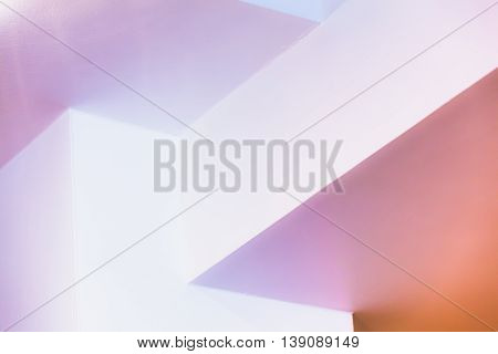 Colorful Interior Fragment With Bright Corners
