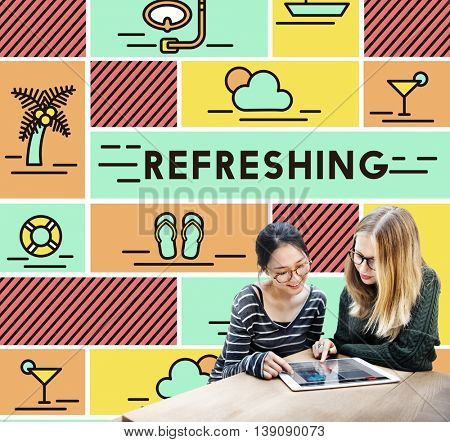 Refreshing Refreshment Renew Rethink Restart Concept