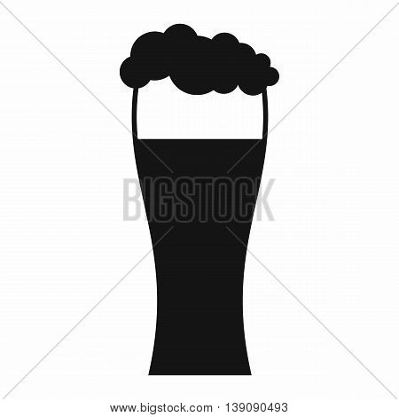 Glass of beer icon in simple style isolated vector illustration