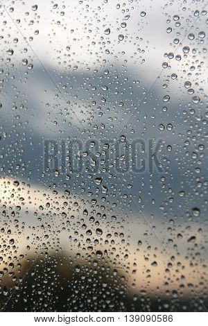 Drops Of Rain On The Window