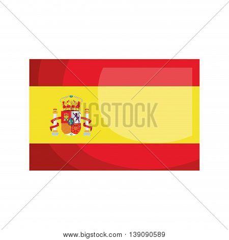 Spanish flag isolated icon design, vector illustration  graphic
