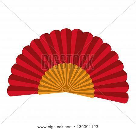 spanish fan isolated icon design, vector illustration  graphic