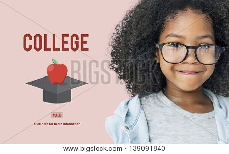 College Education Graduation Successful College Concept