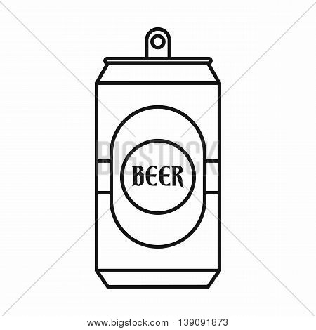 Aluminum can icon in outline style isolated vector illustration