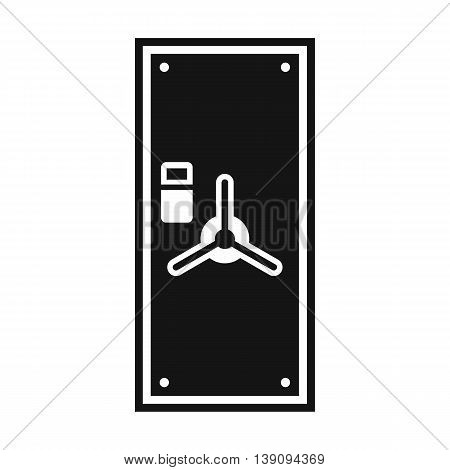 Safe door icon in simple style isolated vector illustration