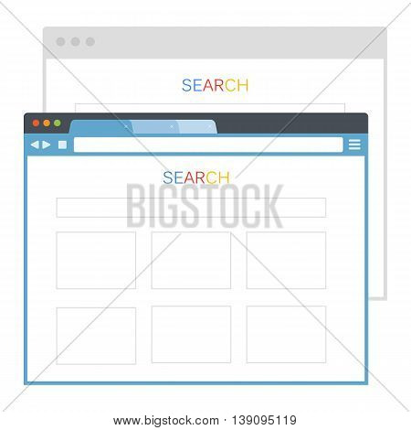 Simple set of browser window vector eps 10