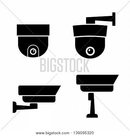 Video surveillance security cameras vector eps 10